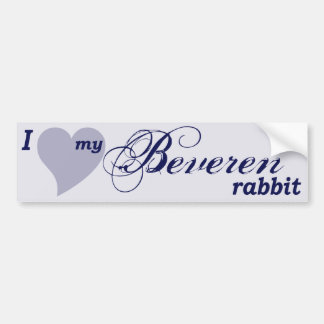 Beveren rabbit bumper sticker
