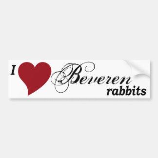 Beveren rabbits bumper sticker