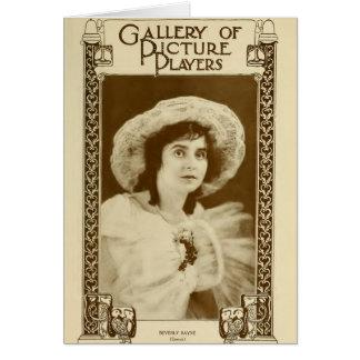 Beverly Bayne 1915 silent movie actress portrait Card