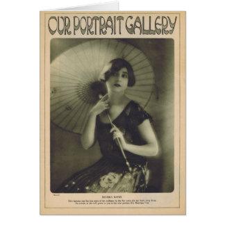 Beverly Bayne 1924 vintage portrait Card