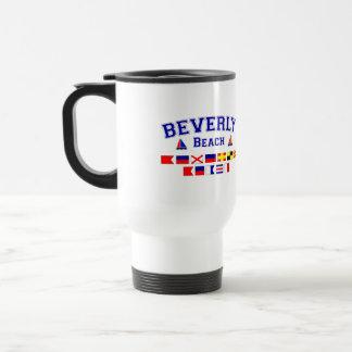 Beverly Beach, FL - Nautical Flag Spelling 15 Oz Stainless Steel Travel Mug