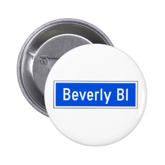 Beverly Boulevard, Los Angeles, CA Street Sign Pinback Buttons