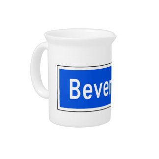Beverly Boulevard, Los Angeles, CA Street Sign Beverage Pitcher
