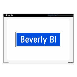 Beverly Boulevard, Los Angeles, CA Street Sign Laptop Skin