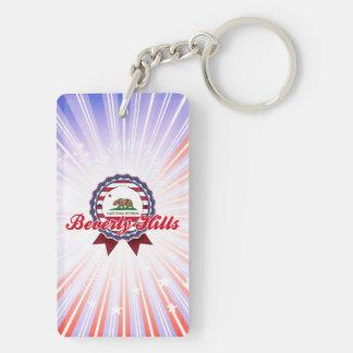 Beverly Hills, CA Double-Sided Rectangular Acrylic Keychain
