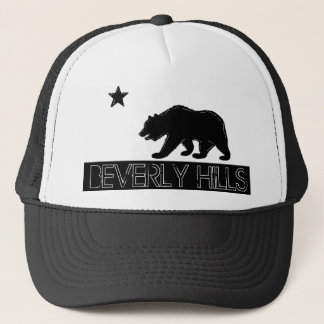 Beverly Hills California black white flag hat