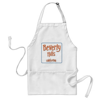 Beverly Hills California BlueBox Adult Apron