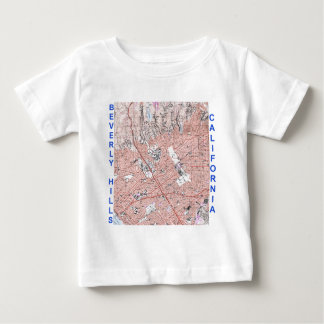 Beverly Hills California Physical Map 1995 Baby T-Shirt