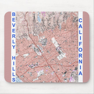 Beverly Hills California Physical Map 1995 Mouse Pad