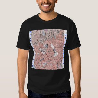 Beverly Hills California Physical Map 1995 T-shirt