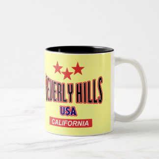 Beverly Hills California Taza De Dos Tonos