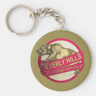 Beverly Hills California vintage bear keychain