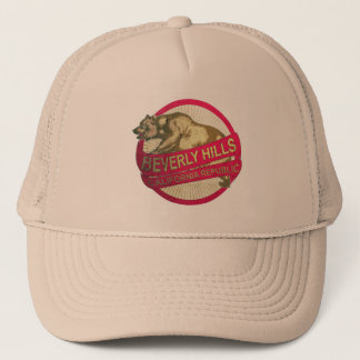 Beverly Hills California vintage bear trucker hat