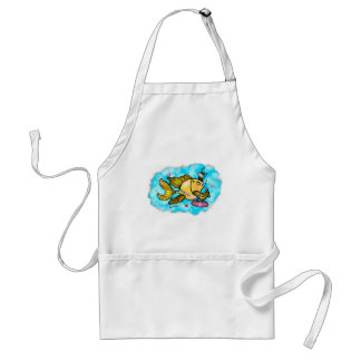 Beverly Hills Housewife Fish cute funny comics Adult Apron