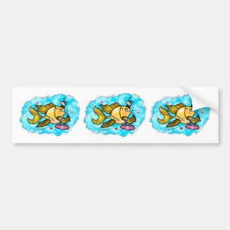 Beverly Hills Housewife Fish cute funny comics Bumper Stickers