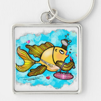 Beverly Hills Housewife Fish cute funny comics Keychain