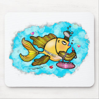 Beverly Hills Housewife Fish cute funny comics Mouse Pads