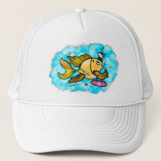 Beverly Hills Housewife Fish cute funny comics Trucker Hat