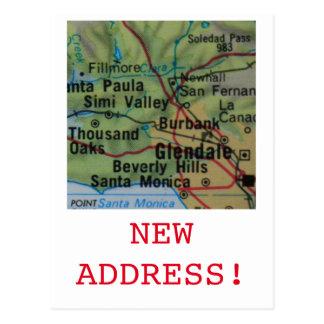 Beverly Hills New Address announcement Postcard