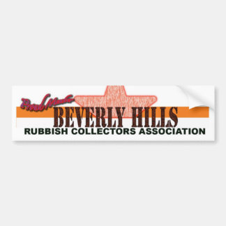 Beverly Hills Rubbish Collectors Bumper Stickers