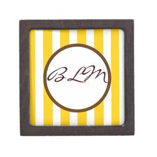 Beverly Hills Stripe Custom Monogram Premium Gift Boxes