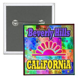 Beverly Hills Sun & Palms Button