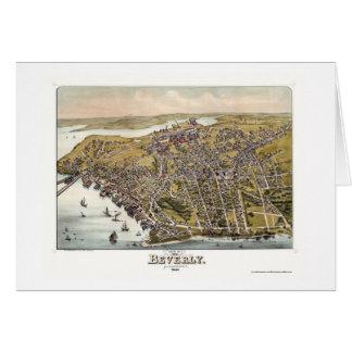 Beverly, mapa panorámico del mA - 1886 Tarjeta De Felicitación