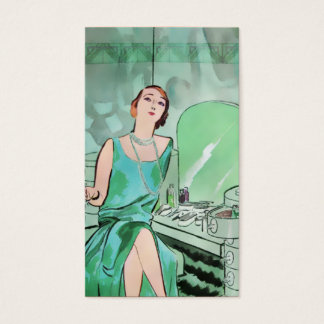 Beverly's Boudoir: 1920s Fashion in Aqua Business Card