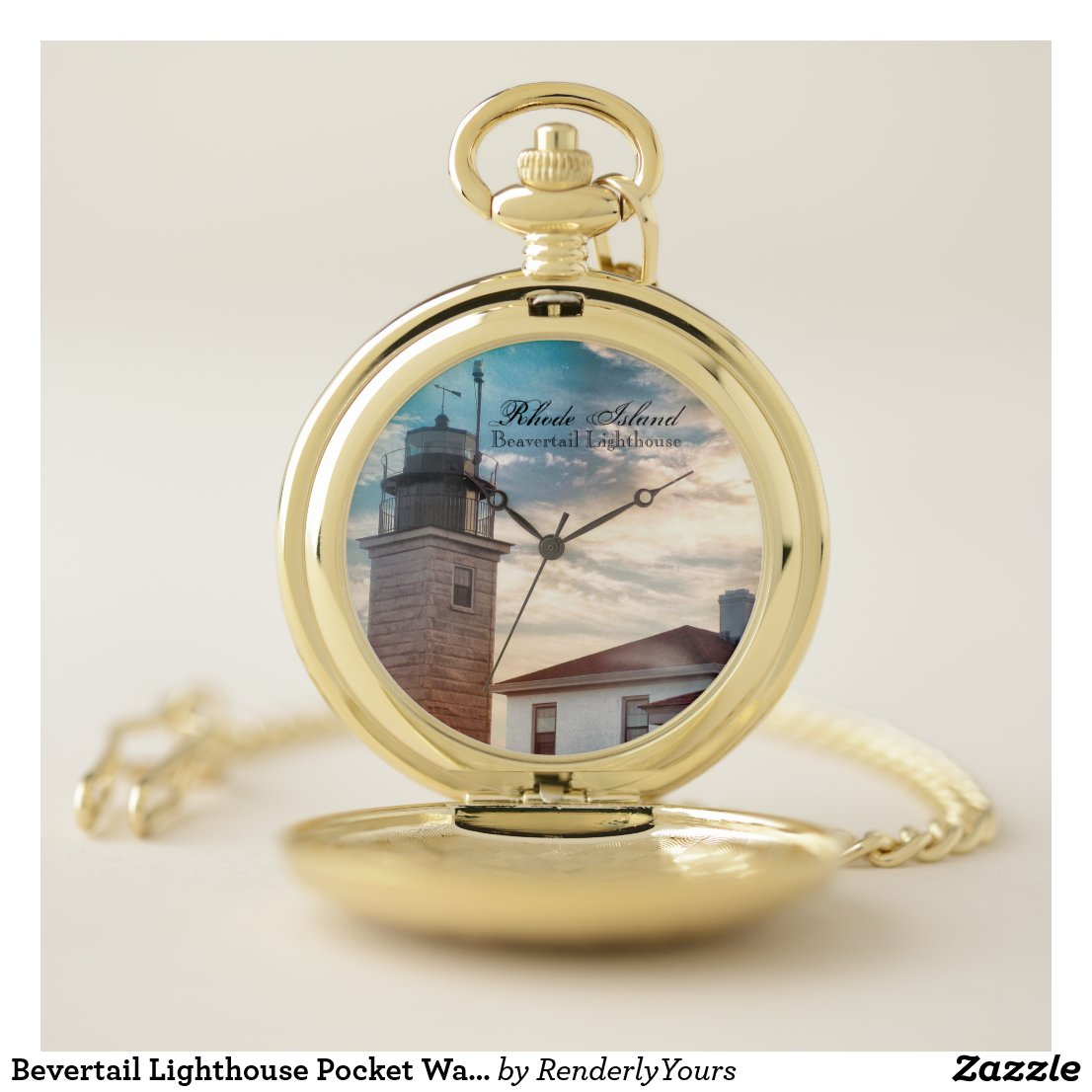 Bevertail Lighthouse Pocket Watch