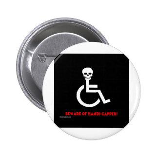 Beware 2 Inch Round Button