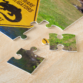 Beware Alligators Do Not Feed Jigsaw Puzzle
