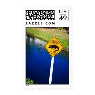 Beware Alligators Do Not Feed Postage