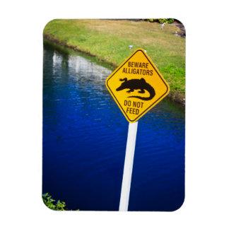 Beware Alligators Do Not Feed Rectangular Photo Magnet