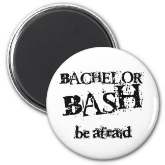 Beware Bachelor Bash 2 Inch Round Magnet