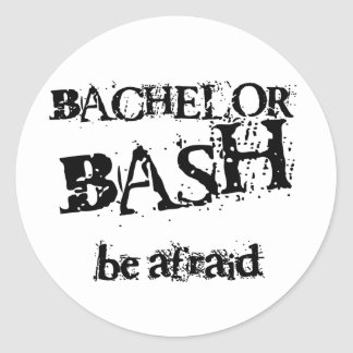 Beware Bachelor Bash Classic Round Sticker