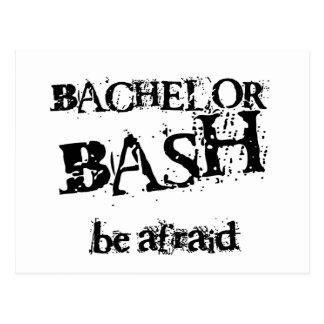 Beware Bachelor Bash Postcard