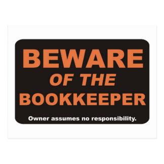 Beware / Bookkeeper Postcard
