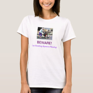 BEWARE! ~ Box Stealing Ajumma Nearby! T-Shirt