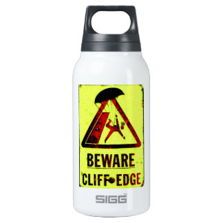 Beware Cliff Edge Thermos Water Bottle