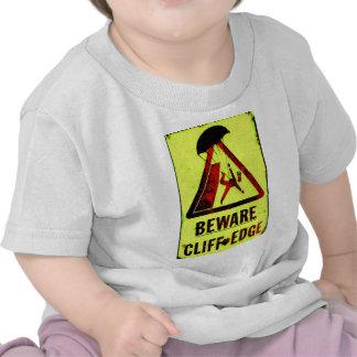 Beware Cliff Edge T Shirt