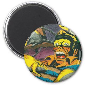 Beware comic book 2 inch round magnet