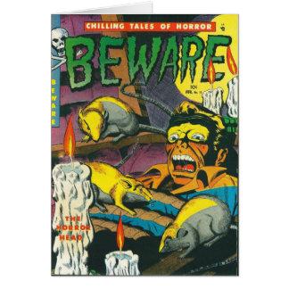 Beware comic book card