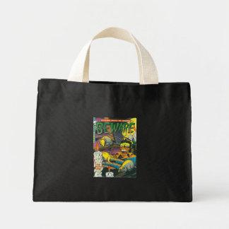 Beware comic book mini tote bag