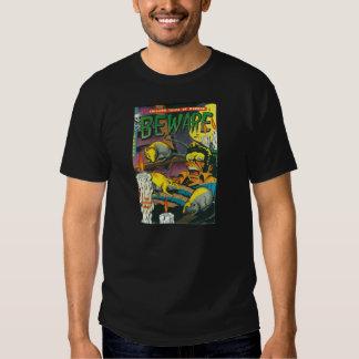 Beware comic book tee shirt