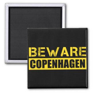 Beware Copenhagen 2 Inch Square Magnet