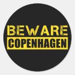 Beware Copenhagen Classic Round Sticker