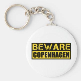 Beware Copenhagen Keychain