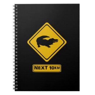 beware crocodiles spiral notebooks