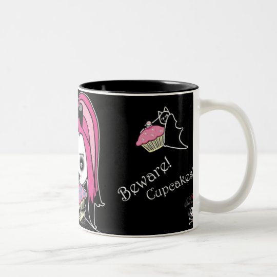 Beware Cupcakes! Two-Tone Coffee Mug