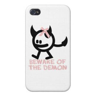 beware demon pinkbow iPhone 4/4S covers